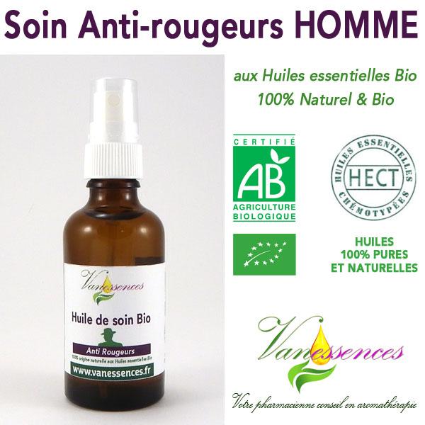 Soin Anti-rougeurs Homme Bio 100% naturel