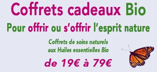 Coffrets cadeaux Bio - Soins cosmétiques naturels et Bio aux Huiles essentielles Bio