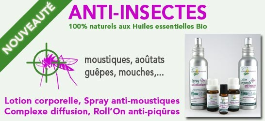 Anti-insectes 100% naturels aux Huiles essentielles Bio