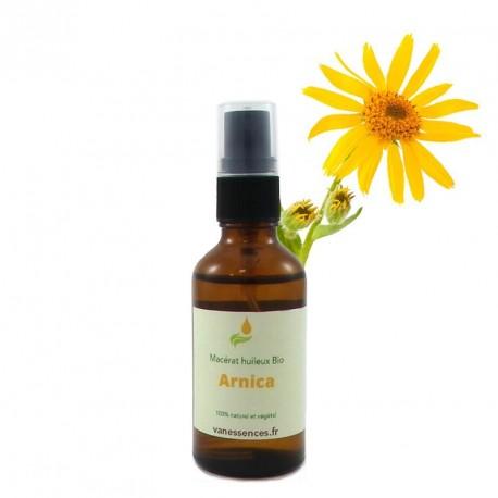 Huile d'Arnica bio. Macérat huileux biologique d'Arnica Montana 50ml