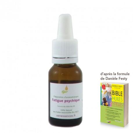 Fatigue psychique  - Synergie aux huiles essentielles par voie orale 100% bio et naturel