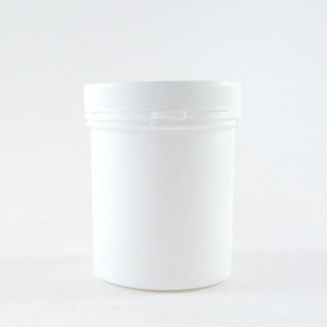 Pot en plastique vide cosmétique 250ml avec bouchon couvercle vissant inviolable.
