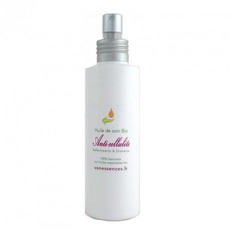 Huile de massage BIO anti-cellulite massage raffermissant et drainant  - 100% naturel aux huiles essentielles