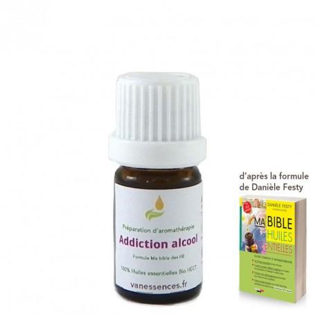 Dépendance à l'Alccol - Synergie d'huiles essentielles 100% Bio par inhalation, voie cutanée ou voie orale.