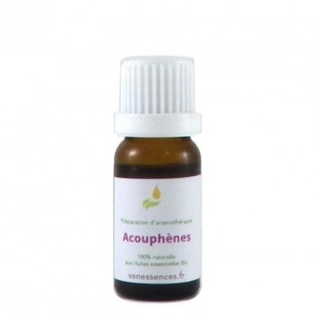 Acouphènes traitement naturel. Synergie aux huiles essentielles bio. A utiliser par voie cutanée en massage.