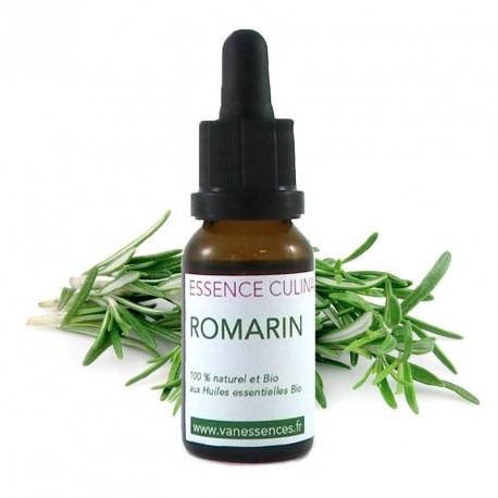 Romarin - Essence culinaire Bio - Huile essentielle Bio pour la cuisine - Concentré d'arôme 100% naturel