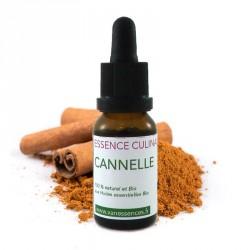 Cannelle - Essence culinaire Bio - Huile essentielle Bio pour la cuisine - Concentré d'arôme 100% naturel