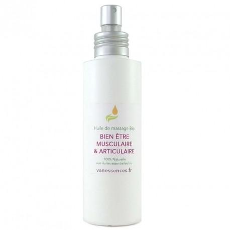 Huile de massage BIO Bien être musculaire & articulaire 100% naturelle aux huiles essentielles bio