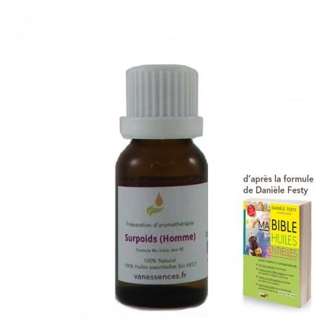 Surpoids (Hommes) - Synergie par voie orale 100% bio et naturel aux huiles essentielles bio