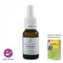 Traitement contre l'arthrose. Synergie naturelle aux huiles essentielles bio par voie orale.