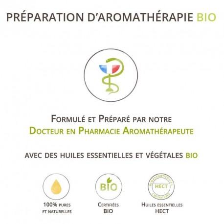 Sérum Bio à l'huile de Rose musquée Bio et aux Huiles essentielles Bio. Huile pour le soin du visage