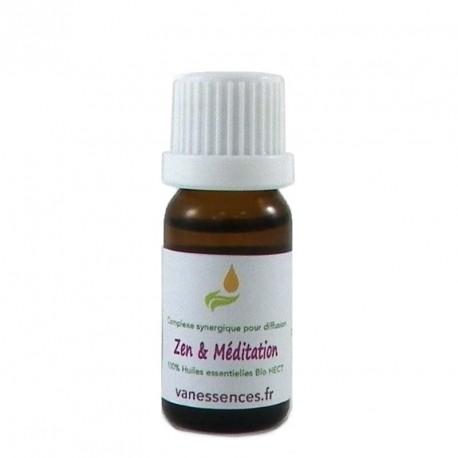 Diffusion Zen et Méditation  - Complexe d'huiles essentielles pour diffuseur 100% bio