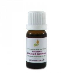 Inhalation stimulant et désinfectant : complexe synergique 100% Huiles essentielles BIO HECT