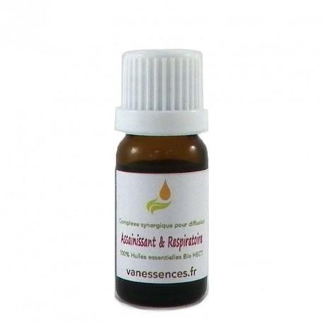 Mélange d'huiles essentielles pour diffuseur - Assainissant & Respiratoire 100% bio et naturel