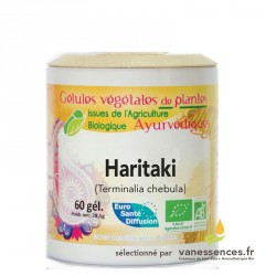 Terminalia chebula bio Gélules de poudre de Haritaki Arura