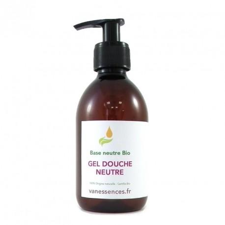 Base lavante neutre Bio - Gel douche naturel. Tous types de peaux. Visage, corps, cheveux.