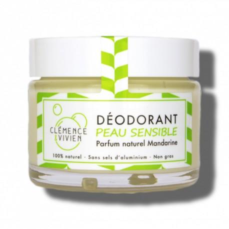 Déo peau sensible Mandarine 100% naturel sans alcool, sans aluminium