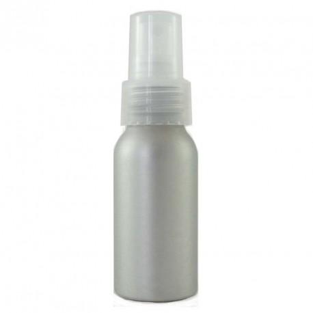 Flacon aluminium 50ml avec bouchon spray vaporisateur