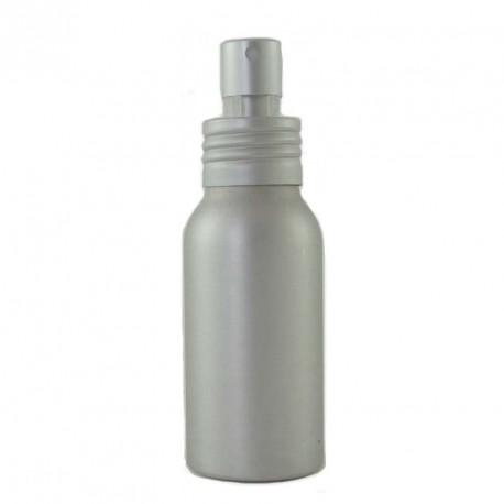 Flacon 50ml aluminium avec bouchon pompe spray vaporisateur alu