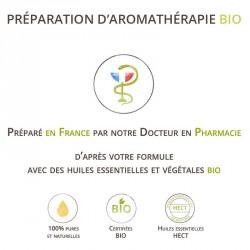 Syndrome de Raynaud - Mélange d'huiles essentielles bio - voie cutanée