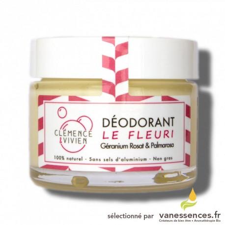 Déodorant naturel solide Le Fleuri - Crème sans sels d'aluminium