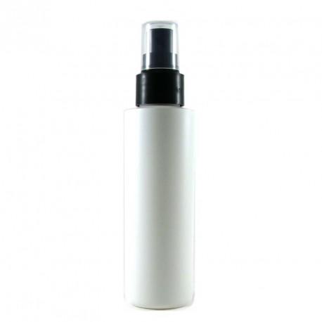 Flacon spray vide plastique blanc 125ml bouchon vaporisateur pulvérisateur NOIR