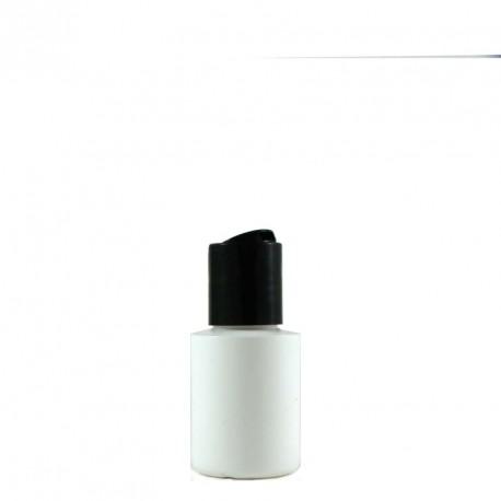 Flacon plastique blanc 30ml bouchon disctop noir