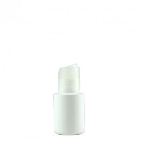 Flacon plastique blanc 30ml bouchon disctop transparent