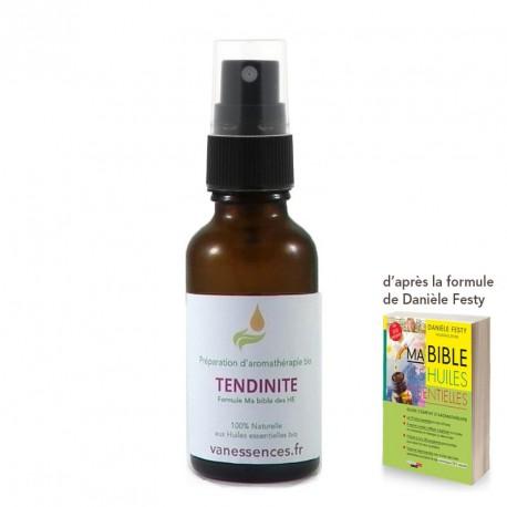 Huile de soin bio Tendinite aux huiles essentielles