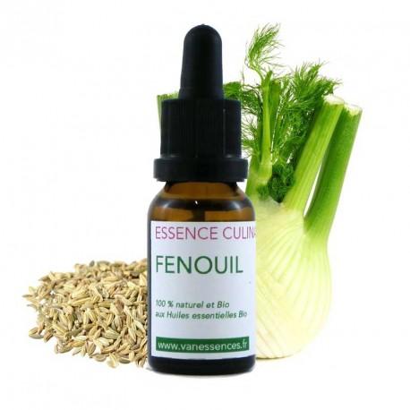 Fenouil - Essence culinaire Bio Concentré d'arôme 100% bio et naturel à l'Huile essentielle de Fenouil Bio
