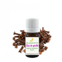 Clou de Girofle Eugenia Caryophyllus - Huile essentielle Bio HECT