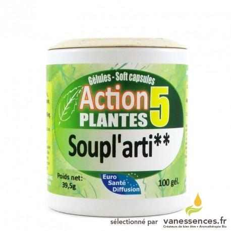 Gélules Soupl'Arti aux 5 plantes