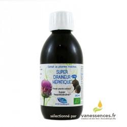 Draineur hépatique bio. Détox naturel du foie aux plantes fraiches.
