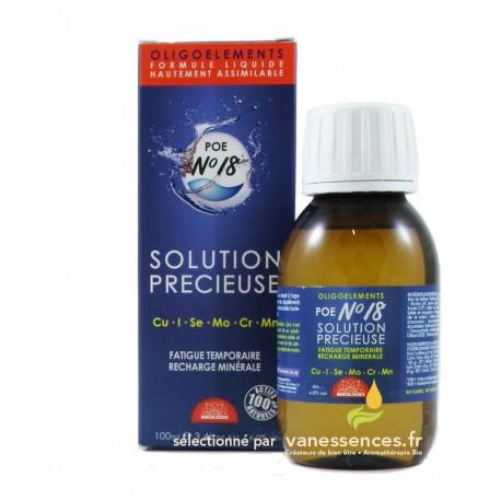Cure d'oligo éléments - Solution précieuse POE n°18 Bioligo - 100ml
