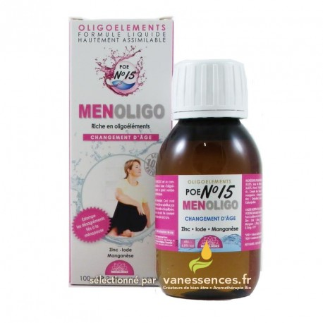 Menoligo POE n°15 - Cure d'oligo élément pour Ménopause / Andropause