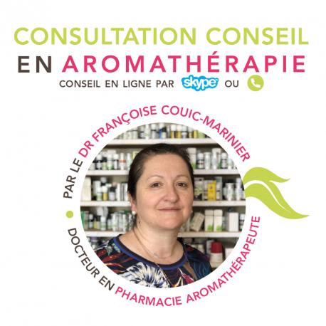 Consultation conseil en aromathérapie par le Docteur Françoise Couic Marinier