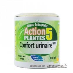 Confort urinaire - Boite de 100 Gélules de plantes bio - Complément alimentaire.