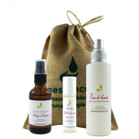 Coffret cadeau Bio Cure de jouvence visage - 100% origine naturelle aux huiles essentielles Bio