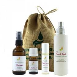 Coffret cadeau Bio Eclat du visage - Soins 100% origine naturelle aux huiles essentielles Bio