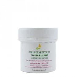 Gélule pullulan origine naturelle et végétale Boîte de 60 Gélules vides taille 0