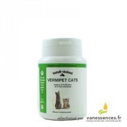Vermifuge naturel pour chat - Vermipet cats -  Boîte de 60 gélules