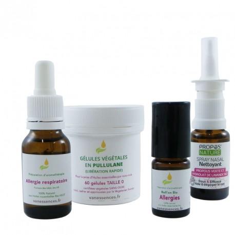 Coffret Stop Allergies anti allergique naturel aux huiles essentielles et à la propolis bio