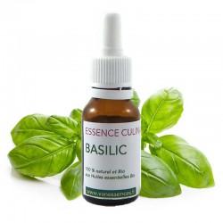 Basilic - Essence culinaire Bio - Huile essentielle Bio pour la cuisine - Concentré d'arôme 100% naturel