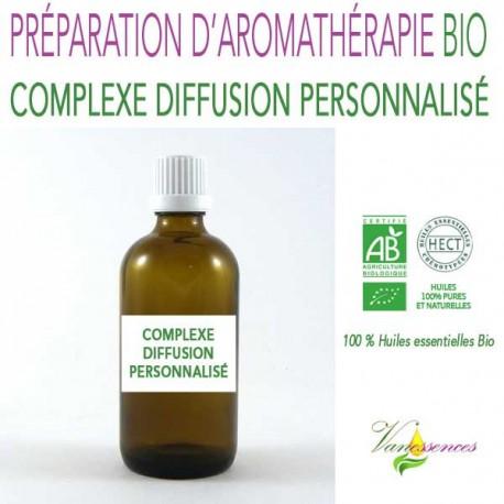 Complexe diffusion personnalisé - 100% huiles essentielles Bio