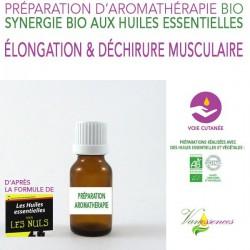 Élongation et déchirure musculaire - Synergie 100% naturelle et bio aux huiles essentielles bio