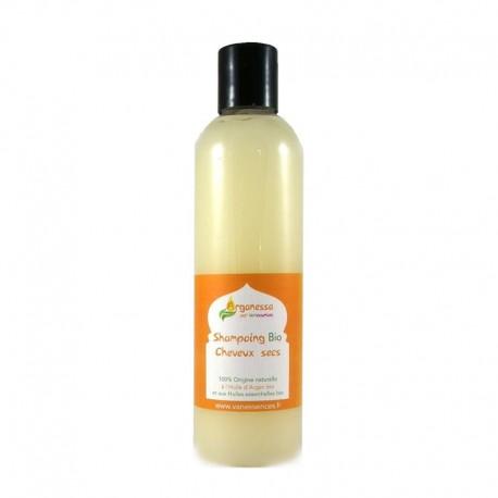Shampoing Bio cheveux secs, abîmés et ternes à l'Huile d'Argan Bio et aux Huiles essentielles Bio