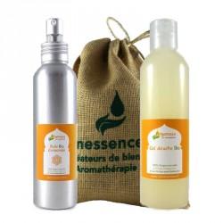 Coffret  cadeau bio Arganessa  : 2 soins corporels naturels et bio à l'huile d'argan et aux huiles essentielles