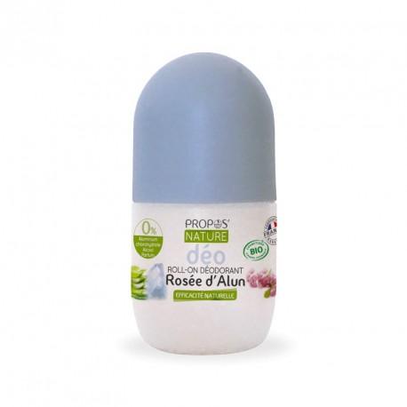 Rosée d'Alun roll-on déodorant bio sans parfum sans paraben sans aluminium sans alcool Roll'on
