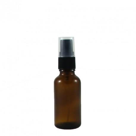 Flacon aromatherapie 30ml verre brun avec spray noir