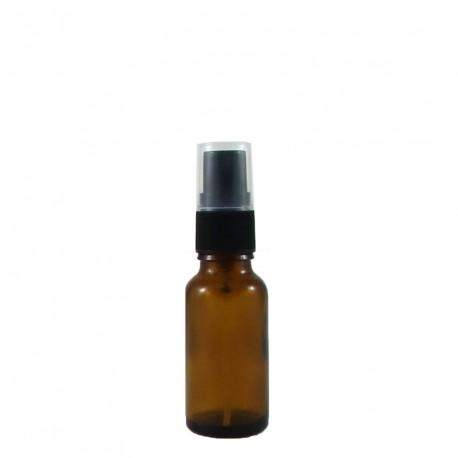 Flacon aromatherapie 15ml verre brun avec spray noir